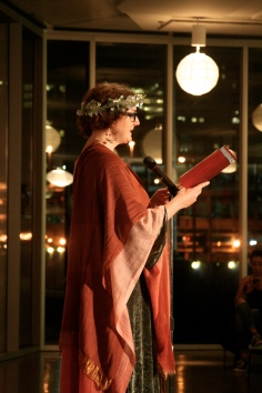 Laurel performing as Sappho, 2015.
